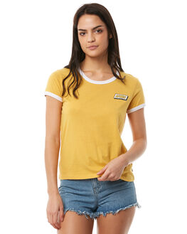FADED MUSTARD WOMENS CLOTHING AFENDS TEES - W181008FMUS