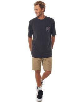 BLACK MENS CLOTHING QUIKSILVER TEES - EQYZT04813KVJ0