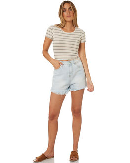 STRIPE WOMENS CLOTHING ALL ABOUT EVE TEES - 6415094STR