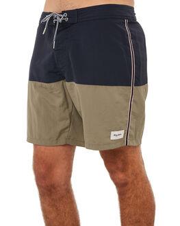 NAVY OLIVE MENS CLOTHING RHYTHM BOARDSHORTS - JAN18M-TR06NAV