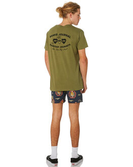 ARMY OLIVE MENS CLOTHING BANKS TEES - WTS0378ARO