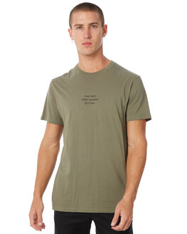 ARMY GREEN OUTLET MENS THRILLS TEES - TW8-109FAGRN