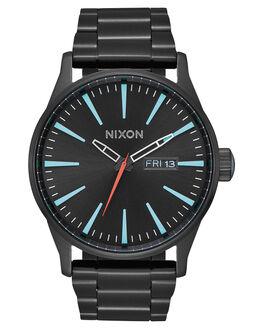 ALL BLACK SILVER LUM MENS ACCESSORIES NIXON WATCHES - A356-2790