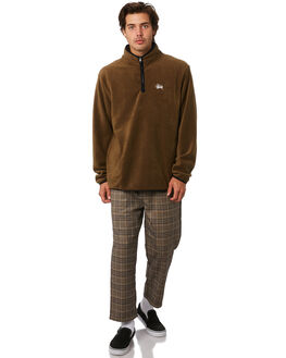 BROWN MENS CLOTHING STUSSY JUMPERS - ST096201BROWN