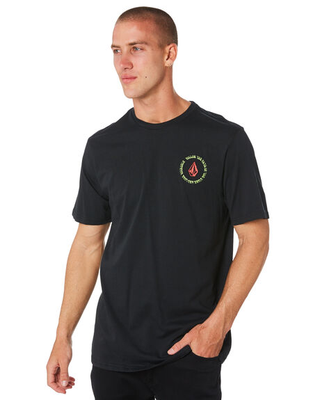 BLACK MENS CLOTHING VOLCOM TEES - A504183GBLK