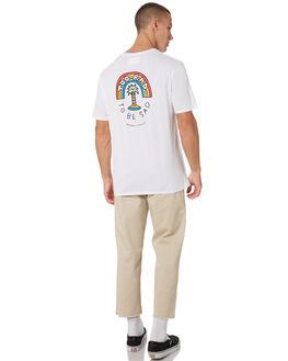 WHITE MENS CLOTHING BARNEY COOLS TEES - 131-CC1WHT