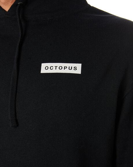 BLACK MENS CLOTHING OCTOPUS JUMPERS - OCTO-ML-BLK