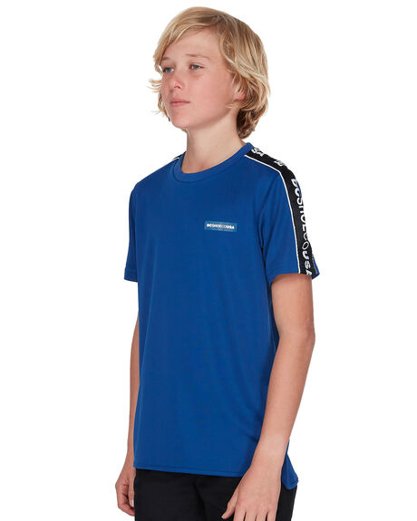 SODALITE BLUE KIDS BOYS DC SHOES TOPS - EDBKT03100BYB0