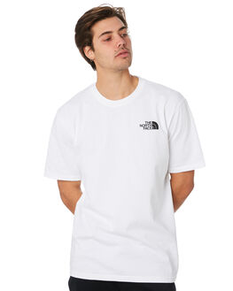 TNF WHITE BLUE MENS CLOTHING THE NORTH FACE TEES - NF0A3SXY9RA