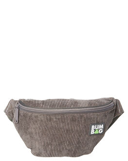 GREY MENS ACCESSORIES THE BUMBAG CO BAGS + BACKPACKS - BB016GRY