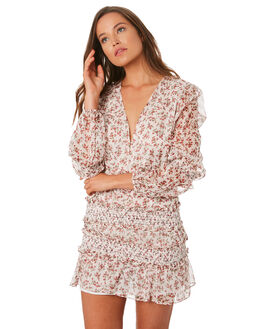 RED ROMANCE FLORAL WOMENS CLOTHING THE EAST ORDER DRESSES - EO180934D-BFLR