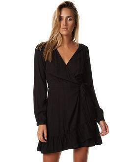 BLACK WOMENS CLOTHING TIGERLILY DRESSES - T373417BLK