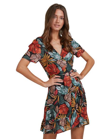 BLACK WOMENS CLOTHING BILLABONG DRESSES - 6513469-BLK