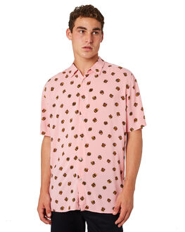 PINK BURGERS MENS CLOTHING BARNEY COOLS SHIRTS - 302-CR4PNKBG