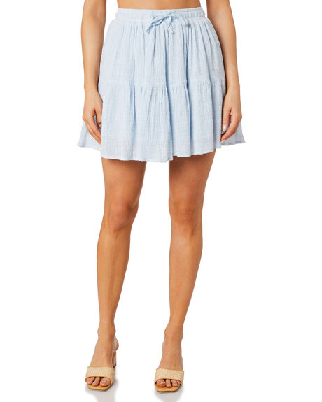 DUSTY BLUE WOMENS CLOTHING THE HIDDEN WAY SKIRTS - H8221234DSTBL