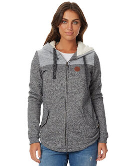 CHARCOAL HEATHER WOMENS CLOTHING ROXY JUMPERS - ERJFT03486KPGH