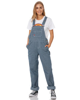 RINSED HICKORY STRPE WOMENS CLOTHING DICKIES PLAYSUITS + OVERALLS - FB206RHS