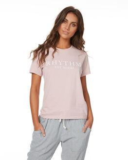 BLUSH WOMENS CLOTHING RHYTHM TEES - JUL17G-TEE01BLU