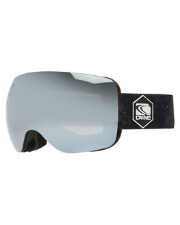 MATT BLACK GREY BOARDSPORTS SNOW CARVE GOGGLES - 6060BMBGRY