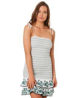 WHITE OUTLET WOMENS TIGERLILY DRESSES - T392461WHT