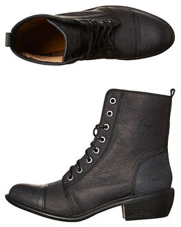 BLACK OILY WOMENS FOOTWEAR ROC BOOTS AUSTRALIA BOOTS - TERRITORYBLK