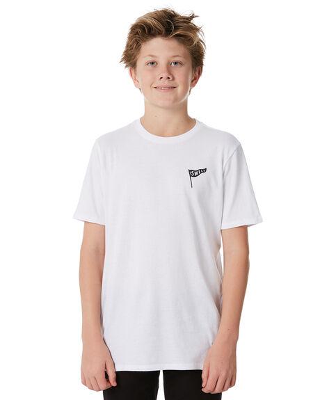 WHITE KIDS BOYS SWELL TOPS - S3184006WHITE