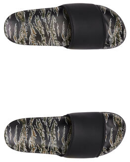GREEN/BLACK MENS FOOTWEAR DC SHOES SLIDES - ADYL100044-GBK