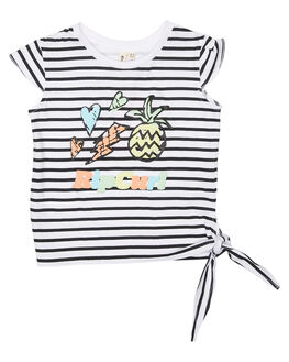 WHITE KIDS TODDLER GIRLS RIP CURL TEES - FTEBO11000