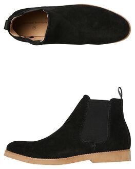 BLACK MENS FOOTWEAR ACADEMY BRAND BOOTS - 18W013BLK