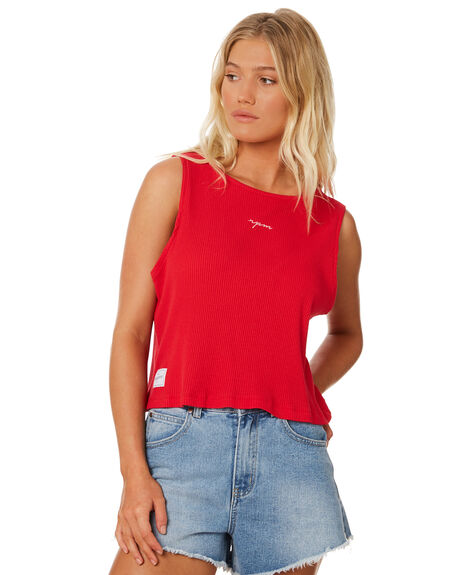 RED WOMENS CLOTHING RPM SINGLETS - 8SWT09BRED