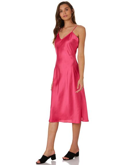 DEEP PINK WOMENS CLOTHING LULU AND ROSE DRESSES - LU23736PINK