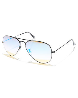 BLACK MIRROR BLUE UNISEX ADULTS RAY-BAN SUNGLASSES - 0RB3025580024O