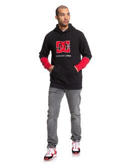 BLACK MENS CLOTHING DC SHOES JUMPERS - EDYKT03468-KVJ0