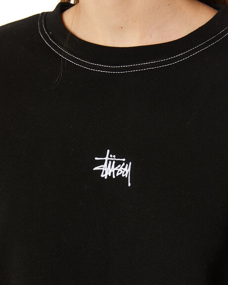BLACK WOMENS CLOTHING STUSSY JUMPERS - ST107312BLK