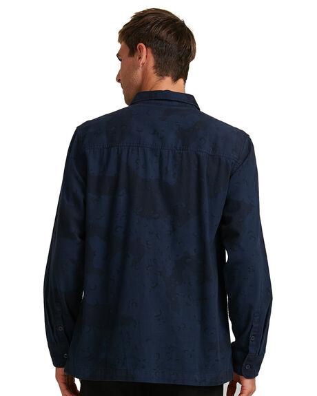 BLACK IRIS CAMO MENS CLOTHING DC SHOES SHIRTS - ADYWT03079-BTL6