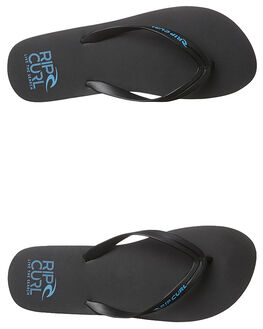 BLACK BLACK BLUE MENS FOOTWEAR RIP CURL THONGS - TMT4981404