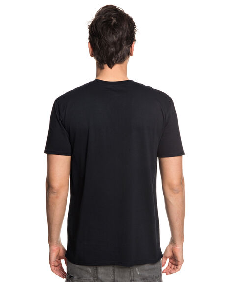 BLACK MENS CLOTHING QUIKSILVER TEES - EQYZT04942KVJ0