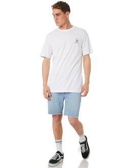 WHITE MENS CLOTHING RVCA TEES - R182060WHT