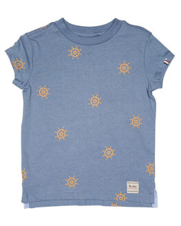 BLUE ORANGE KIDS TODDLER BOYS ROOKIE BY THE ACADEMY BRAND TOPS - R19S474BLUO