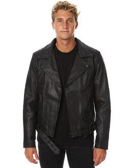 BLACK MENS CLOTHING BANKS JACKETS - WJT0021BLK