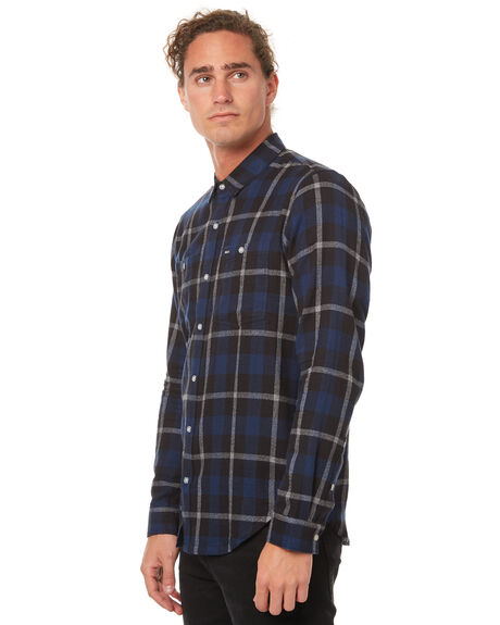 BLACK MENS CLOTHING RVCA SHIRTS - R171185BLK