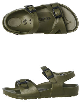 KHAKI KIDS BOYS BIRKENSTOCK THONGS - 1005682BKHAKI