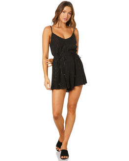 BLACK WOMENS CLOTHING TIGERLILY PLAYSUITS + OVERALLS - T305471BLK
