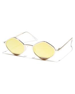 GOLD GOLD WOMENS ACCESSORIES QUAY EYEWEAR SUNGLASSES - QC-000216GLDGD