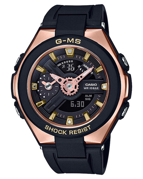 BLACK ROSE GOLD WOMENS ACCESSORIES BABY G WATCHES - MSG400G-1A1BLKRG