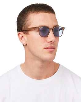 BROWN BLUE MENS ACCESSORIES RAY-BAN SUNGLASSES - 0RB4258BRNBL