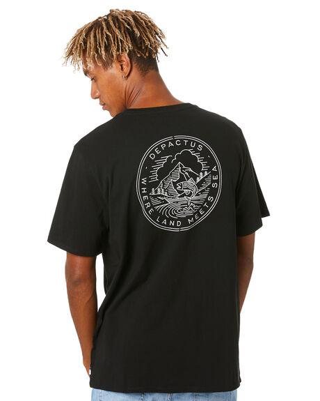 BLACK MENS CLOTHING DEPACTUS TEES - D5203004BLACK