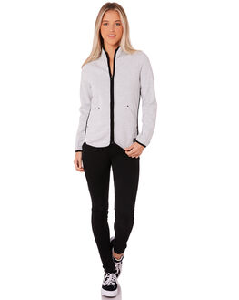 LIGHT GREY HEATHER WOMENS CLOTHING RIP CURL JACKETS - GFEGN13233
