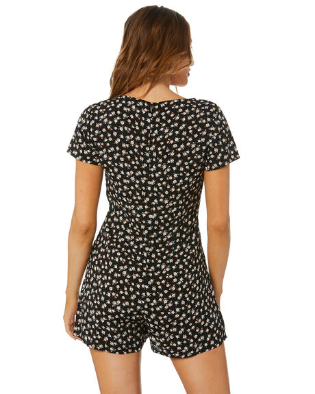BLACK OUTLET WOMENS RUSTY PLAYSUITS + OVERALLS - MCL0355BLK