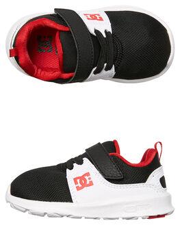 BLACK WHITE RED KIDS TODDLER BOYS DC SHOES FOOTWEAR - ADTS700050XKWR